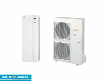 Fujitsu Waterstage HPDUO 14/3F WGYK160DG9/WOYK140LCTA 3 fázisú osztott levegő-víz hőszivattyú HMV tartállyal 13,5 kw
