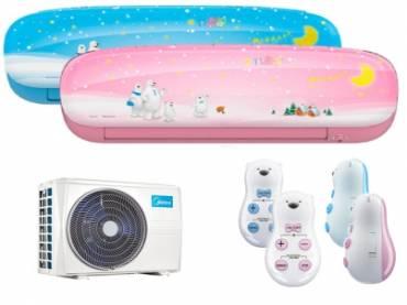 Midea Kids 2,5 kW klíma szett kék vagy rózsaszín beltéri egységgel